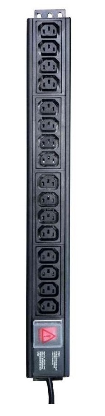 CABLENET IEC12VC14 INDOOR 12AC OUTLET(S) 3M BLACK POWER EXTENSION