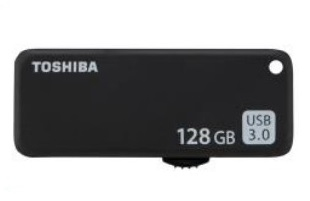 TOSHIBA THN-U365K1280E4 128GB USB 3.0 (3.1 GEN 1) TYPE-A CONNECTOR BLACK FLASH DRIVE
