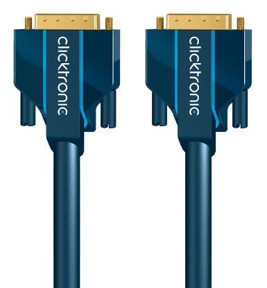 CLICKTRONIC 70332 2M DVI-D CONNECTION DVI CABLE BLUE