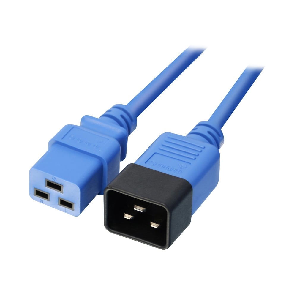 LINDY 30120 1M C20 COUPLER C19 BLUE POWER CABLE