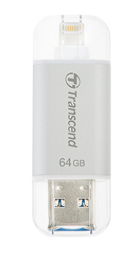 TRANSCEND TS64GJDG300S JETDRIVE GO 300 USB FLASH DRIVE 64 GB 3.0 (3.1 GEN 1) TYPE-A CONNECTOR SILVER