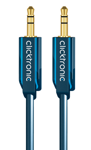 CLICKTRONIC 70482 1M MP3 AUDIO CABLE 3.5MM BLUE