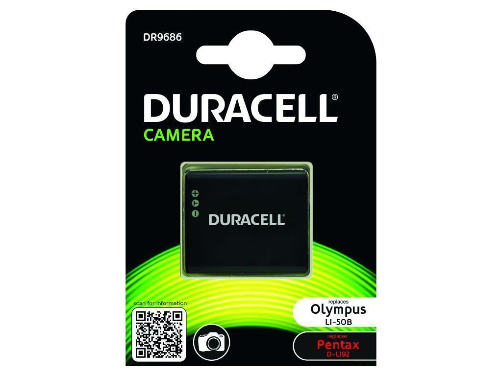 DURACELL DR9686 CAMERA BATTERY - REPLACES OLYMPUS LI-50B RECHARGEABLE