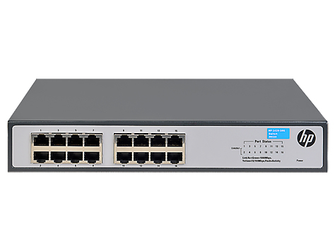 HPE JH016A#ABB 1420-16G UNMANAGED NETWORK SWITCH L2 GIGABIT ETHERNET (10/100/1000) 1U GREY