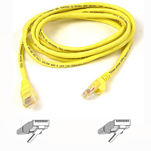 BELKIN A3L791B50CM-YLW RJ45 CAT-5E PATCH CABLE 0.5 YELLOW 0.5M NETWORKING