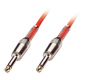 LINDY 6010 6.3MM M/M 0.5M AUDIO CABLE 6.35MM RED