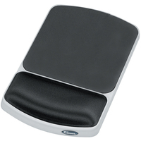 FELLOWES 91741 GRAPHITE, WHITE MOUSE PAD