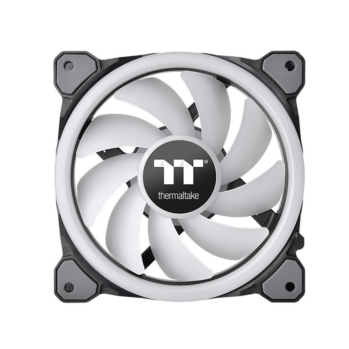 THERMALTAKE CL-F072-PL12SW-A RIING TRIO 12 LED RGB RADIATOR FAN TT PREMIUM EDITION COMPUTER CASE