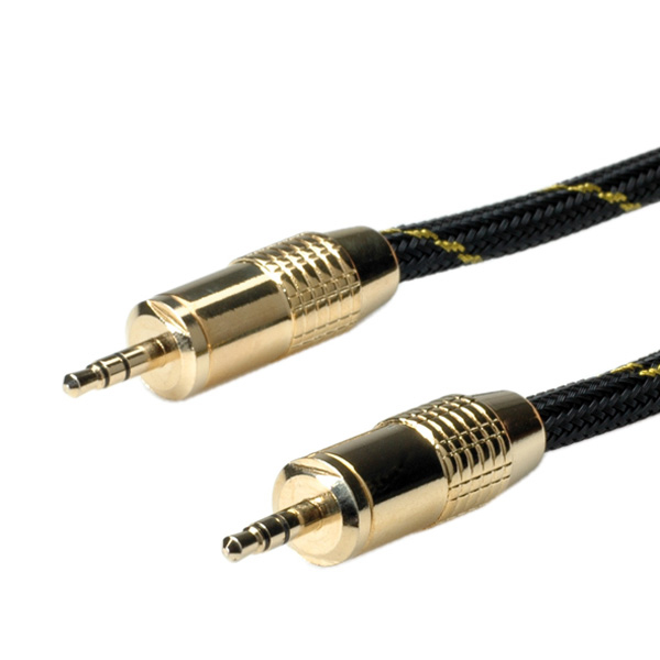 ROLINE 11.09.4283 GOLD 3.5MM AUDIO CONNETION CABLE, MALE - 2.5M