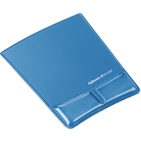FELLOWES 9182201 HEALTH-V CRYSTAL MOUSE PAD/WRIST SUPPORT BLUE