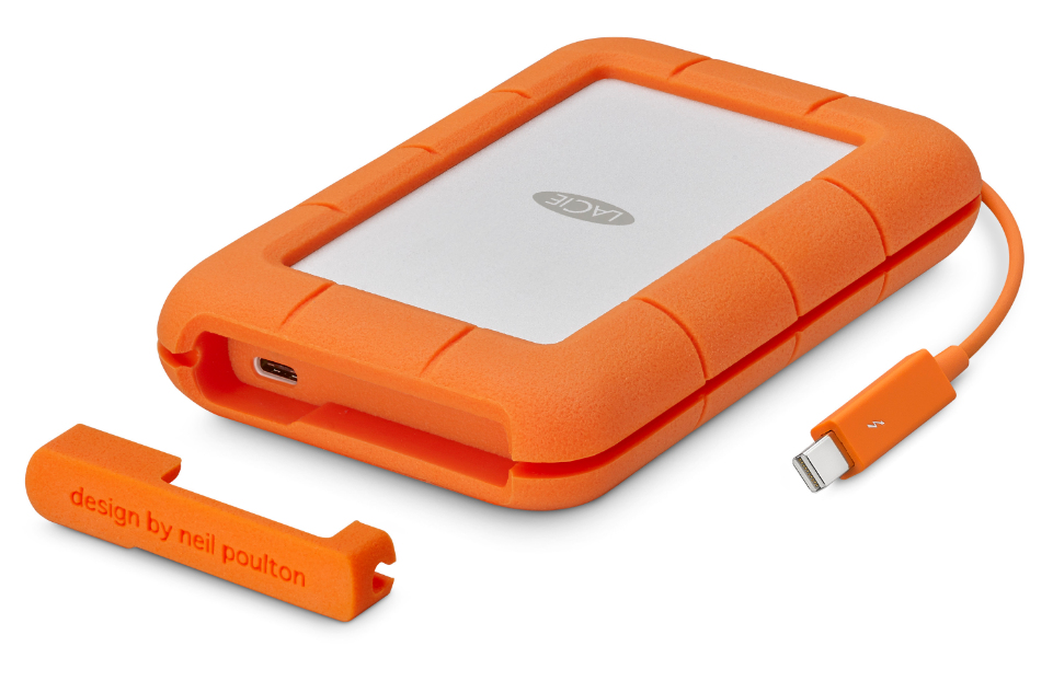 LACIE STEV2000400 RUGGED THUNDERBOLT EXTERNAL HARD DRIVE 2000 GB ORANGE