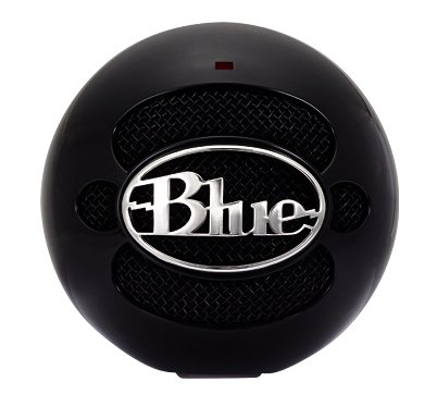 BLUE MICROPHONES 1912 SNOWBALL NOTEBOOK MICROPHONE WIRED BLACK