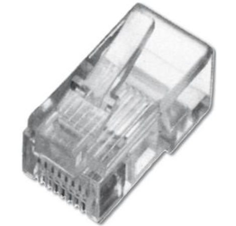 DIGITUS A-MO 6/6 SF A-MO6/6SF RJ-12 TRANSPARENT WIRE CONNECTOR