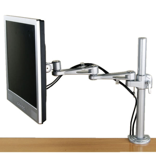 VALUE 17.99.1132 SINGLE LCD MONITOR ARM, 4 JOINTS, DESK CLAMP