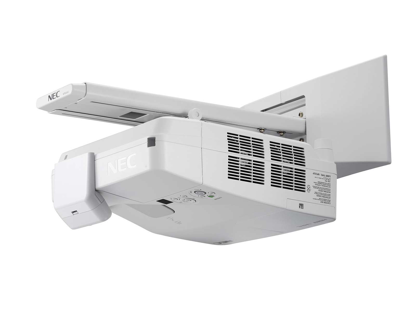 NEC 60004208 UM301WI WALL-MOUNTED PROJECTOR 3000ANSI LUMENS 3LCD WXGA (1280X800) WHITE DATA