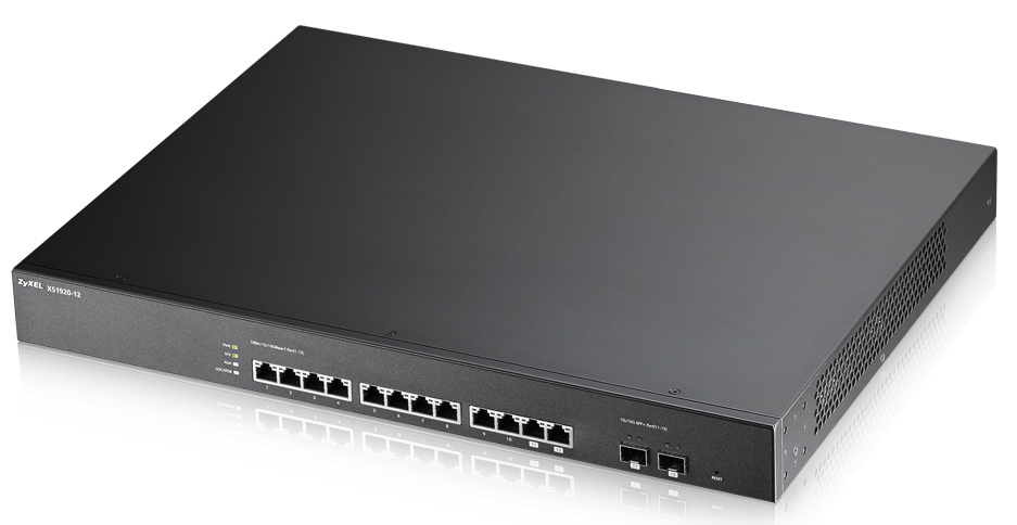 ZYXEL XS1920-12-ZZ0101F XS1920-12 MANAGED NETWORK SWITCH L2 10G ETHERNET (100/1000/10000) 1U BLACK