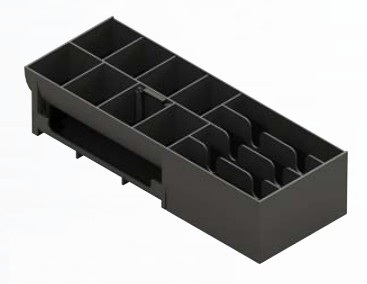 APG CASH DRAWER 20266PAC TRAY ABS SYNTHETICS BLACK