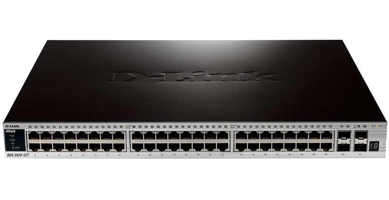 D-LINK DGS-3620-52T/SI MANAGED NETWORK SWITCH L3 BLACK