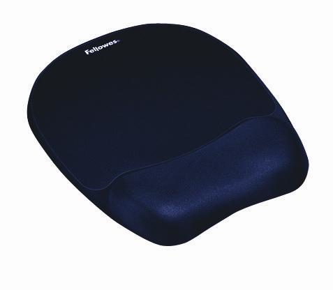 FELLOWES 9172801 MEMORY FOAM MOUSE PAD/WRIST REST SAPPHIRE