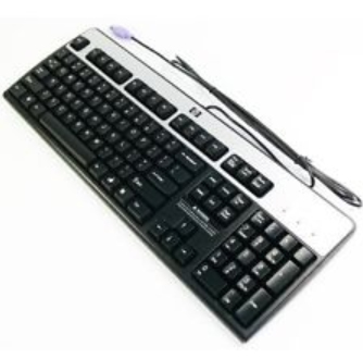 HP 434820-052 PS - 2 AZERTY FRENCH BLACK, SILVER KEYBOARD