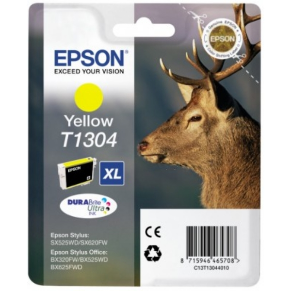 EPSON C13T13044012 (T1304) INK CARTRIDGE YELLOW, 1.01K PAGES, 10ML