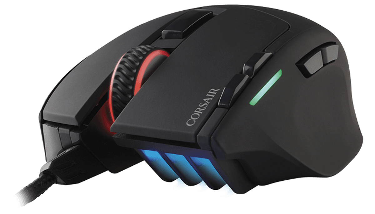 CORSAIR CH-9303011-EU USB OPTICAL 10000DPI RIGHT-HAND BLACK MICE