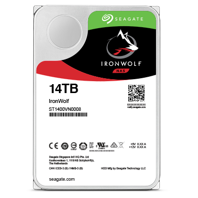 SEAGATE ST14000VN0008 IRONWOLF INTERNAL HARD DRIVE HDD 14000 GB SERIAL ATA III