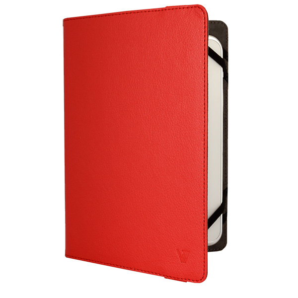 V7 TUC-8-RED-14E UNIVERSAL FOLIO CASE FOR IPADS AND TABLET PCS 7 TO 8