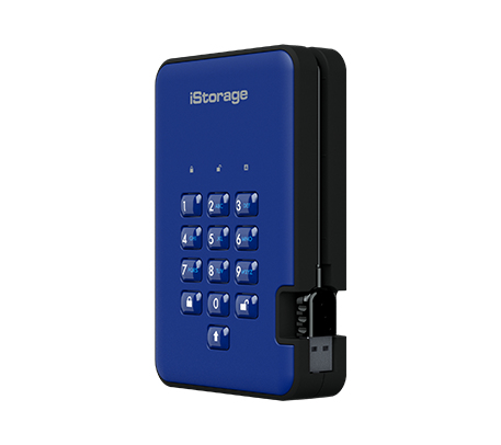 ISTORAGE IS-DA2-256-3000-BE DISKASHUR 2 EXTERNAL HARD DRIVE 3000 GB BLUE