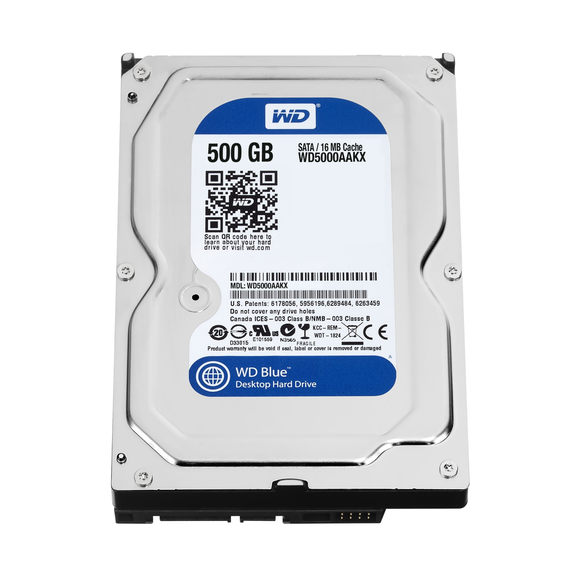WESTERN DIGITAL BLUE 500GB SERIAL ATA INTERNAL HARD DRIVE REFURBISHED