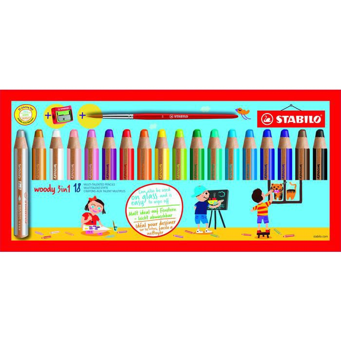 STABILO 880/18-3 WOODY 3 IN 1 MULTI 18PC(S) COLOUR PENCIL