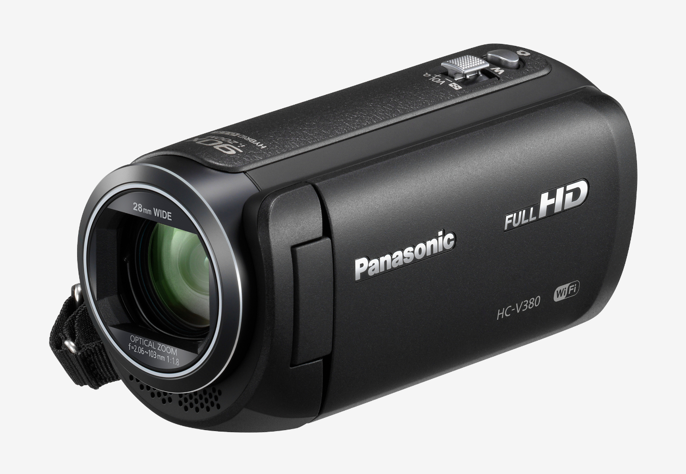 PANASONIC HC-V380EG-K HANDHELD CAMCORDER 2.51MP MOS BSI FULL HD BLACK HAND-HELD