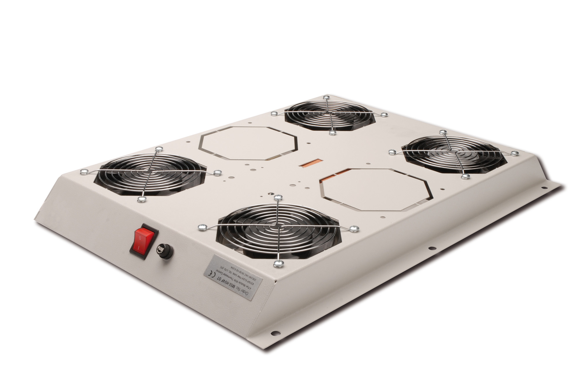 DIGITUS DN-19 FAN-4-SRV HARDWARE COOLING ACCESSORY GREY