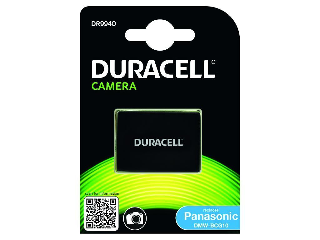 DURACELL DR9940 CAMERA BATTERY - REPLACES PANASONIC DMW-BCG10 RECHARGEABLE