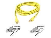 BELKIN A3L791B02M-YLW PATCH CABLE - RJ-45(M) 2M ( CAT 5E ) 10/100BASE-T YELLOW NETWORKING