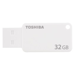 TOSHIBA THN-U303W0320E4 TRANSMEMORY U303 32GB USB 3.0 (3.1 GEN 1) TYPE-A CONNECTOR WHITE FLASH DRIVE