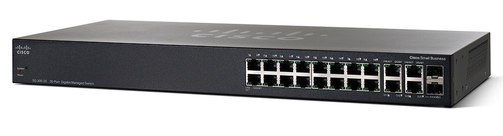 CISCO SG350-20-K9-UK SG350-20 MANAGED L2/L3 GIGABIT ETHERNET (10/100/1000) 1U BLACK