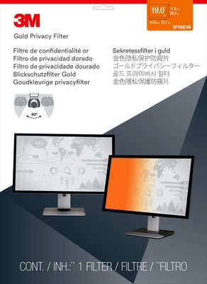 3M GF190C4B GPF19.0 GOLD PRIVACY FILTER FOR DESKTOP LCD MONITOR 19.0