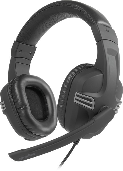 SPEEDLINK SL-870001-BKGY-01 VERSICO HEADSET BINAURAL HEAD-BAND BLACK, GREY