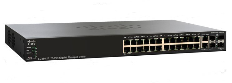 CISCO SG350-28-K9-UK SMALL BUSINESS SG350-28 MANAGED L2/L3 GIGABIT ETHERNET (10/100/1000) BLACK 1U