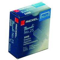 REXEL 5025 NO. 25 (6/4) STAPLES (5000)