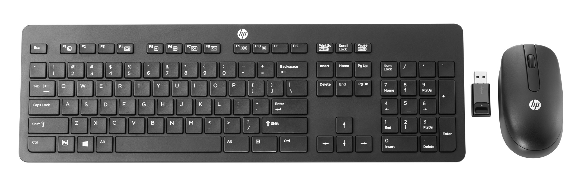 HP N3R88AA#ABB WIRELESS BUSINESS SLIM RF QWERTY ENGLISH BLACK