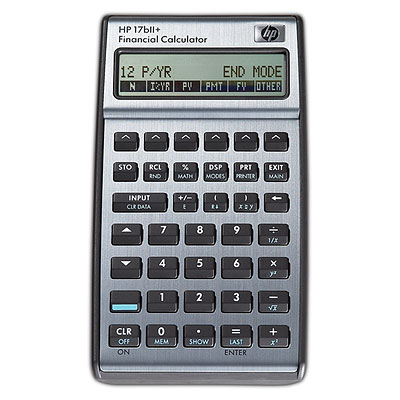 HP F2234A#B12 17BII+ POCKET FINANCIAL BLACK CALCULATOR