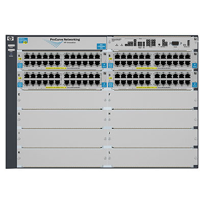 HPE J9540A E5412-92G-POE+/4G-SFP V2 ZL W/PS MANAGED NETWORK SWITCH POWER OVER ETHERNET (POE)