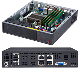 SUPERMICRO SYS-E200-9A SUPERSERVER E200-9A INTEL SOC BGA 1310 1U BLACK