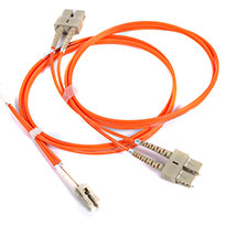 PEAKOPTICAL PTFMO3-50-16F FIBER OPTIC CABLE 50 M OM3 LC/PC ORANGE