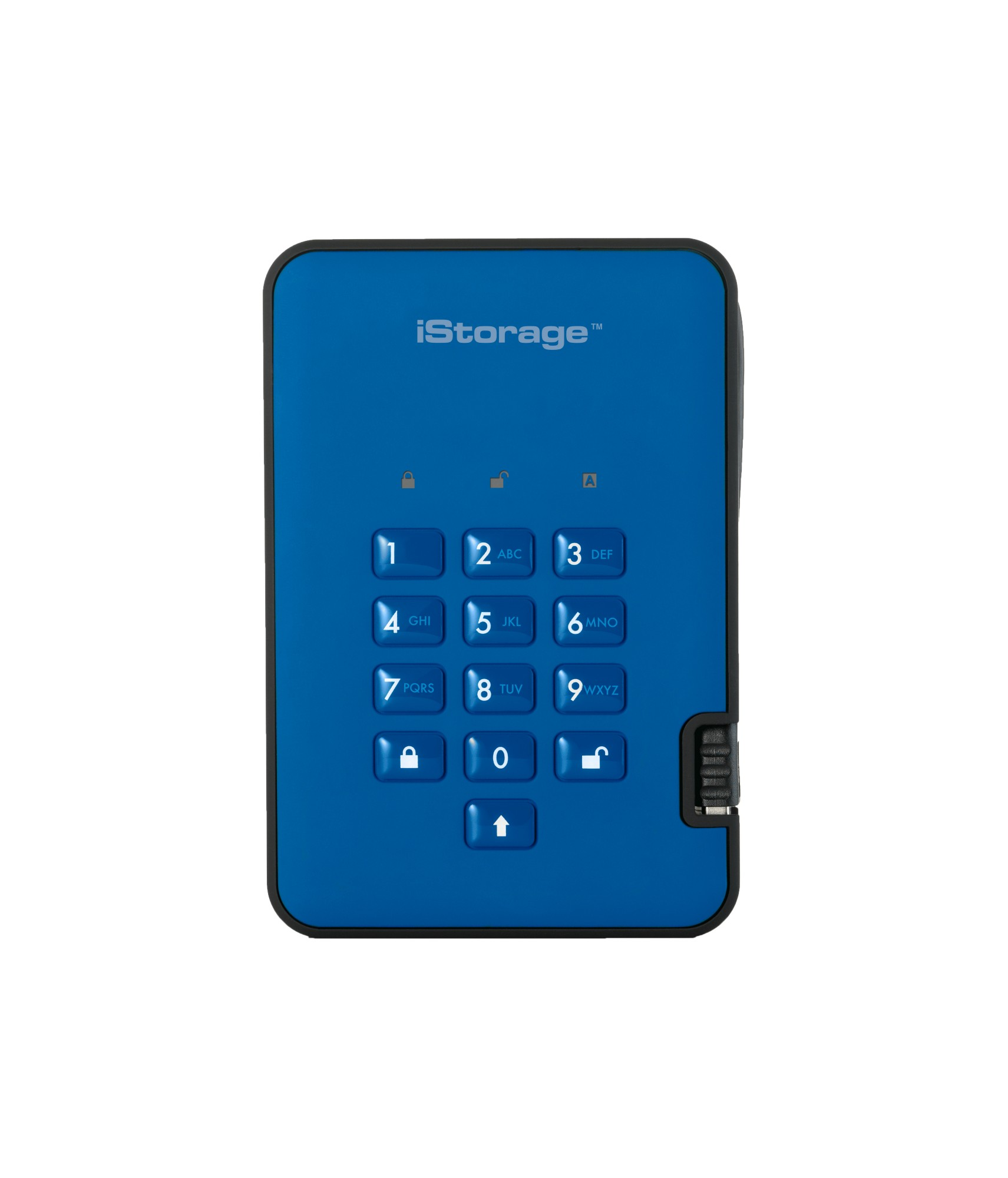 ISTORAGE IS-DA2-256-2000-BE DISKASHUR 2 EXTERNAL HARD DRIVE 2000 GB BLUE