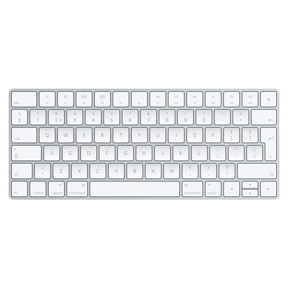 APPLE MLA22N/A MLA22 BLUETOOTH QWERTY DUTCH SILVER, WHITE