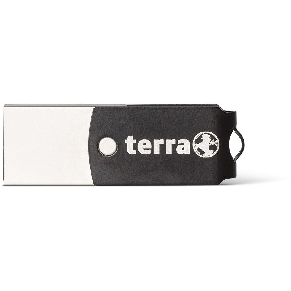 WORTMANN AG 2190000 TERRA USTHREE A + 16GB USB 3.0 (3.1 GEN 1) TYPE-A CONNECTOR TYPE-C BLACK FLASH DRIVE