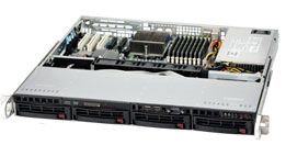 SUPERMICRO AS-1012G-MTF AMD SR5650 SOCKET G34 1U BLACK, GREY SERVER BAREBONE